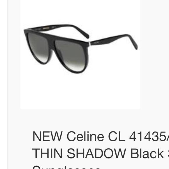 deaa3d527ac NWT Celine Thin Shadow 41435 sunglasses Black